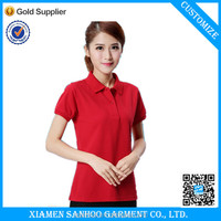 Youth Fashionable Sports Blank Polo Shirt ladies/girls 100% Cotton Custom Logo Shirt In Low Price From China