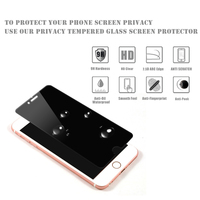 Vmax 9H Anti spy Anti-Peek tempered glass privacy screen protector for iPhone 5 I5 I6s