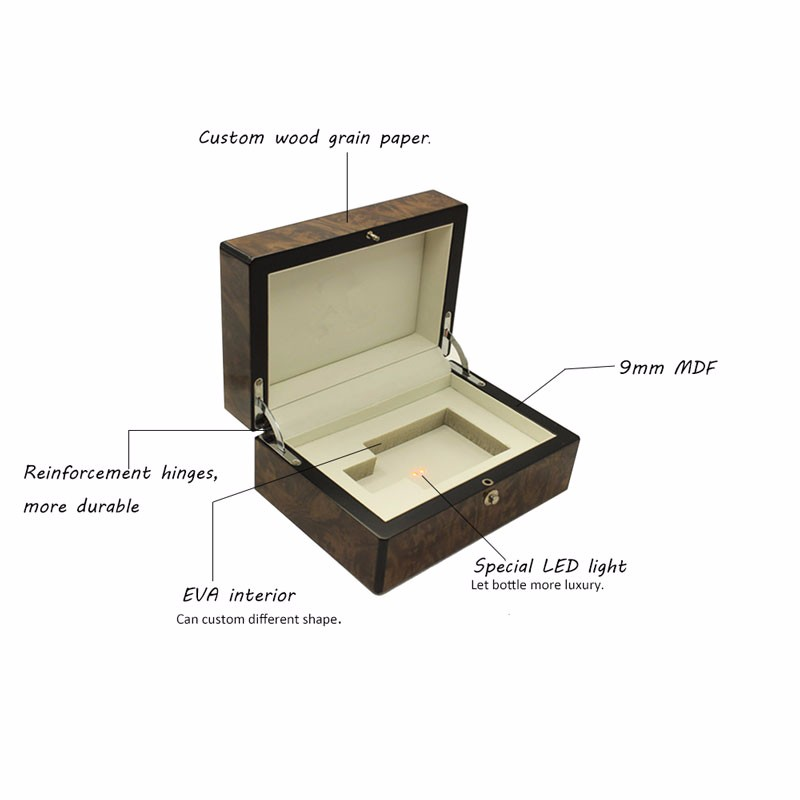 Arabic LED Light Wooden Perfume Gift Box