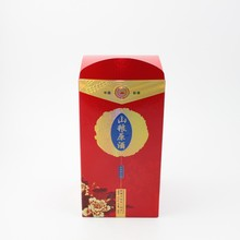 Portable paper wine box, paper wine carrier,one bottle wine box