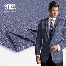 Best selling New style man suit Slub 100% polyester print fabric
