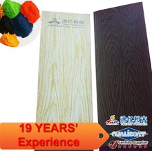 3D sprinkled weather resistant Wood Grain Texture oak colored sublimation printing Powder Coating Aluminium Paint