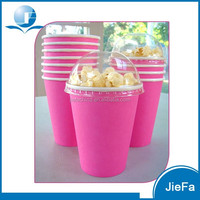 Widely Used Solid Color Popcorn Bucket With Lid