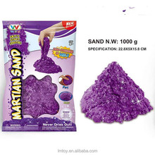 creative 1000g soft moving purple sand fluorescent soft playing sand toys best gift for kids