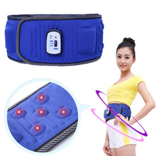 Electric Vibrating Slimming Belt Massage Waist Slimming Exercise Leg Belly Fat Burning Heating Abdomen Massager