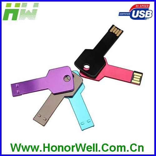 Colorful Key Shape Wholesale 128MB usb flash disk customized logo for gift or use