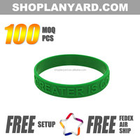 Cheap Eco-friendly Embossed Silicone Wristband