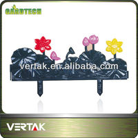 Decorative flower garden fencing