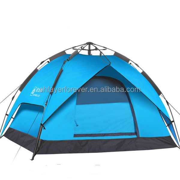 Automatic dome family camping tent,outdoor army tent, bench tent
