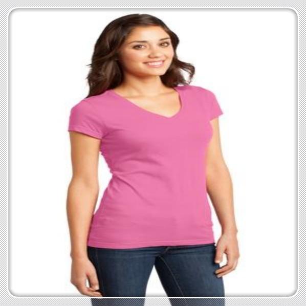 cheap wholesale plain clothing v neck cvc6040 china