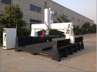 factory price 4 axis CNC router /1300*2500*500mm cnc machine for huge curve surface,flank,profile,side,horizontal cutting