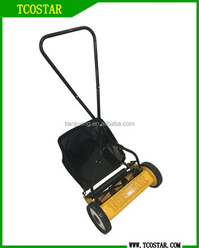 Garden tools grass cutting machine manual hand push lawn mower