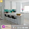2016 Good quality high gloss finish kitchen cabinet with island