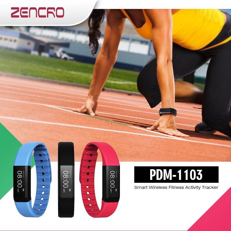 Zencro fitness band with heart rate, high quality gym exercise bluetooth shoes heart rate activity tracker