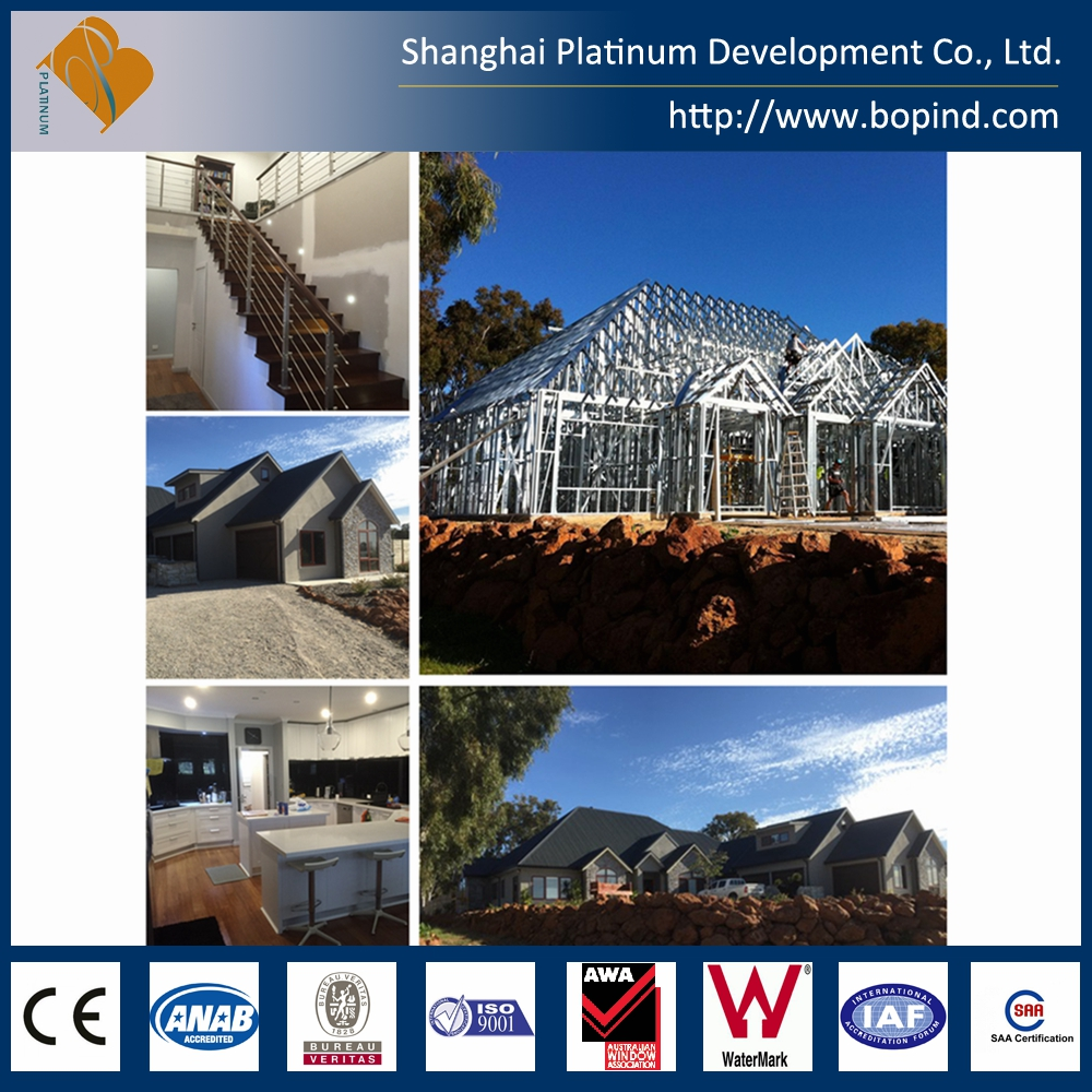 Pre fab manufactured steel framing villa two storey building