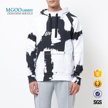 Oversize Men Pullover With Front Pocket Hooded Sweatshirt All Over Printed Hoodies