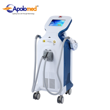 Floor standing shr ipl two handles laser hair removal facial rejuvenation machine