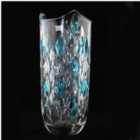 hot sale colored glass vase martini