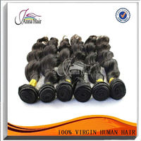brown color natural wave malaysian human hair machine weft hair