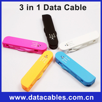 High speed 3 in 1 Swiss Army Knife USB Charge Cable 30Pin/8Pin/Micro-T2093 for smartphone with good quality