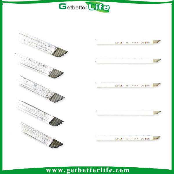 Getbetterlife 14 grouping blade, gamma rays sterlized tattoo needle, manual eyebrow tattoo needle