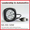 NSSC best Wholesaler work light 9-32V 50w LED tractor and trailers light led tractor light flood beam