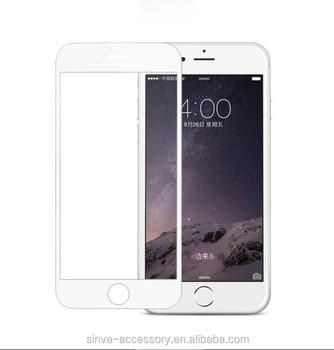 sinva For iPhone 6 Tempered Glass Screen Protector Full Covered White&Black for iPhone 6 4.7inch New!
