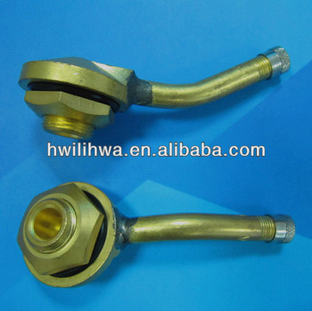Clamp in tubeless tire valves for truck