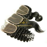 High quality 8A unprocessed bangs lace closure best selling virgin hair bundles with lace closure