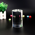 Blank cylinder shape crystal for 3d laser engraving