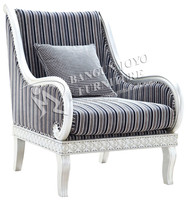 Classic Wooden Frame Upholstered fabric Armchair/Home furniture