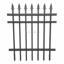 Metal Black Aluminum Anti Climb Slat Tube Patio Fence