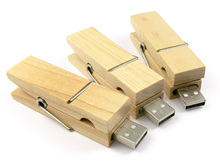 Special wooden Clothespin Usb Flash Drive With Interface 2.0