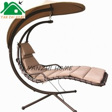 Best Products Hanging Chaise Lounger Chair Arc Stand Air Porch Swing Hammock Chair Canopy Teal