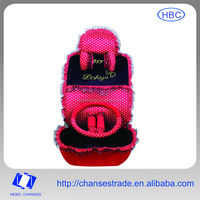 Pink princess style car seat cover for female