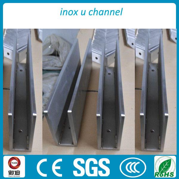 U Channel Plexiglass Aluminum Panel Balustrade Aluminum