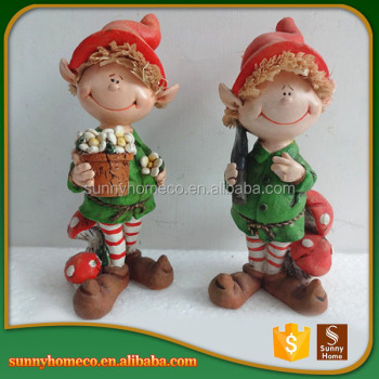 Popular Designs Customized Modern Garden Decoration Resin Baby Christmas Gift