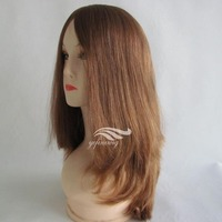 18 Inches Long Layered Wholesale Virgin European Hair Kosher Wigs
