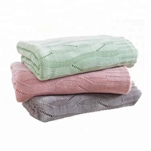 2018 New Design Knit Super Soft Bamboo Organic Cotton Throw Baby Blanket