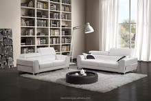 JR9310 fresh white simple luxury modern sofa elegant real cow leather living room sofa couch set apartment furniture 1+2+3