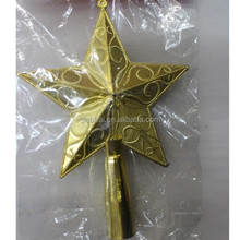 2015 Plastic golden christmas tree top star decoration