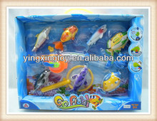 summer plastic kids electronic magnetic fishing game toys with light and music