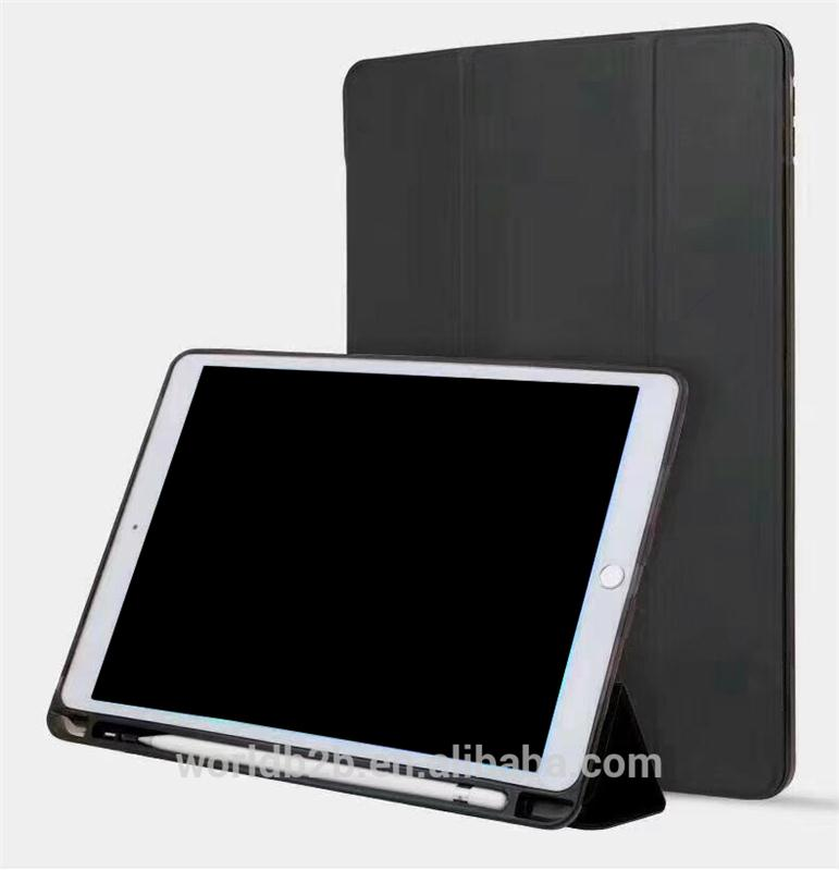 Smart Folio Stand Protective Heavy Duty Rugged Impact Resistant Leather Case with Pen Holder for Apple New iPad 5/6/7/8