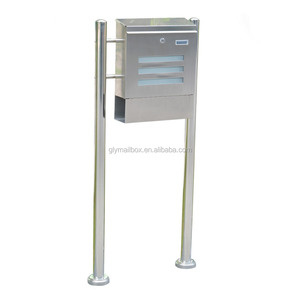 Combination Price Cast Stainless Steel Standing Rural Locking Mailboxes