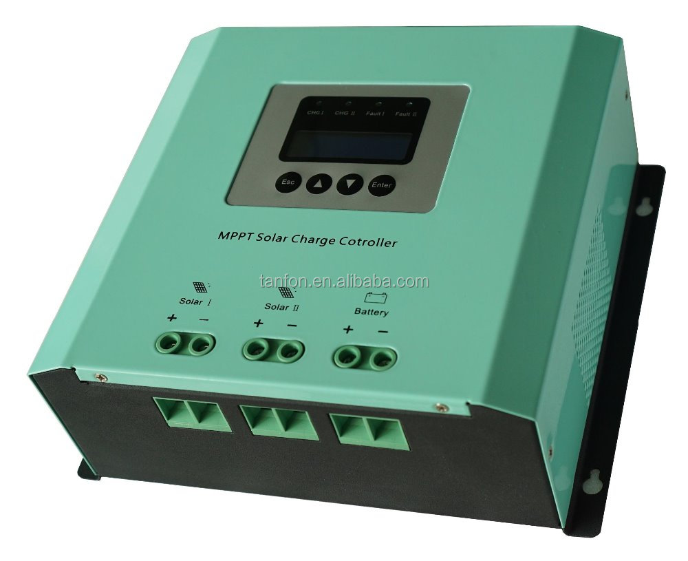 Foshan factory direct supply 12v 24v 20a hybrid MPPT solar charge controller with LCD display