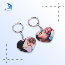 High quality Cheap family/lover photo digital printing plastic keychains