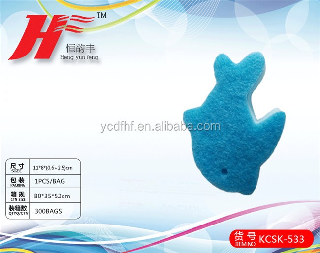 dolphins shaped animal kitchen washing sponges