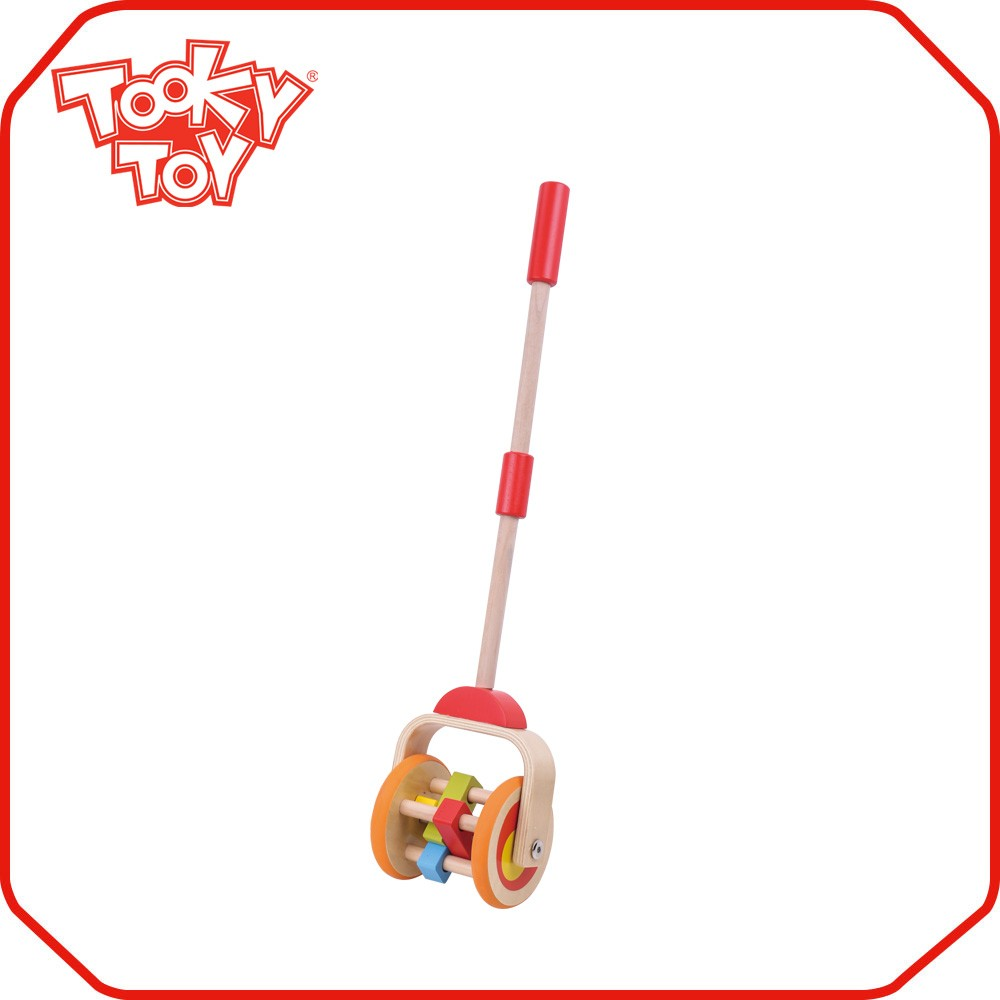 Wholesale Child Play Wooden Hand Push Along Up Toy