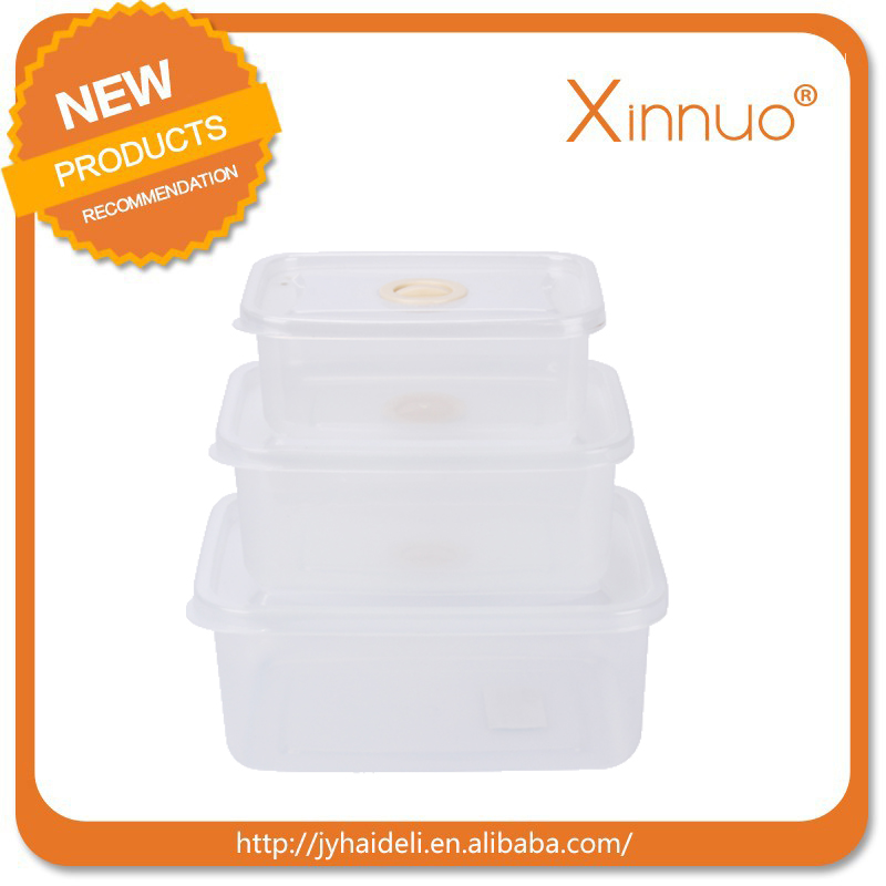 500ml 750ml 1000ml plastic transparent disposable food storage box