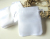Lovely white satin drawstring hipster voile bag for little gifts and treasures